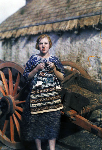 A girl in Ireland, 1920s. From my Attrition folder.